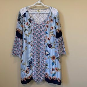Anthropology Fig and Flower Boho Tunic Dress